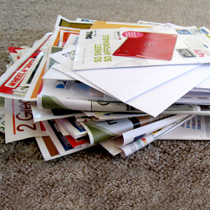 Leaflets and junk mail